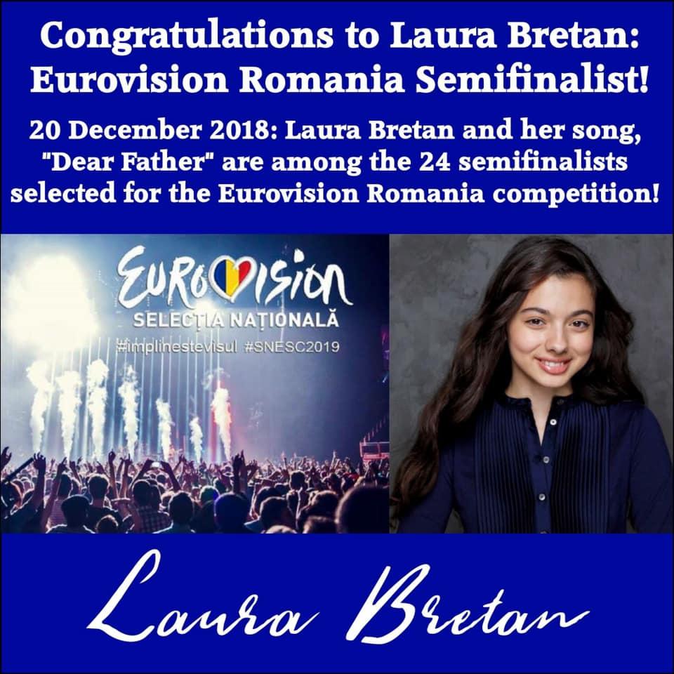 Laura Bretan semi finalist eurovision 2018